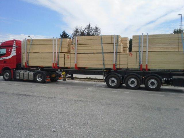 Transport von Schnittholz