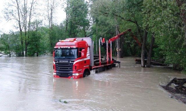 Einsatz bei Hochwasser